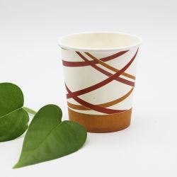 Retirer les boissons au café chaud à paroi simple tasse en papier jetables