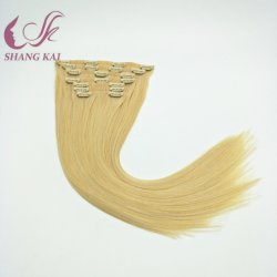 白人女性のための毛の拡張のブラジルの人間の毛髪継ぎ目が無いクリップ、Remyのアフリカの毛の拡張クリップ