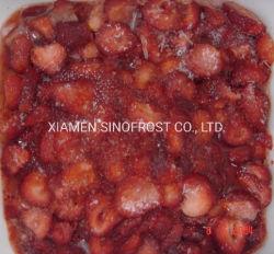 IQF Gesneden Aardbeien, Bevroren Gesneden Aardbeien, Bevroren Gesneden Aardbeien met Suiker, IQF Gedobbelde Aardbeien, de Bevroren Puree van de Aardbei, Bevroren 4+1 Aardbeien