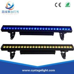إضاءة LED خارجية LED بقدرة 24X10W مقاومة للماء، إضاءة حلقة الغاسلة بالحائط RGBW