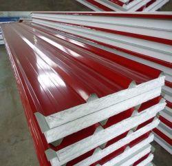 プレハブの家のための軽量の耐火性の構造絶縁された壁または屋根のポリスチレンEPSサンドイッチパネルか工場または倉庫