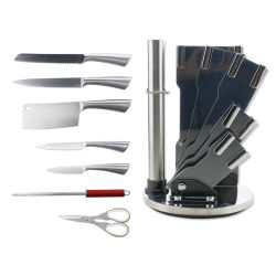 Jeu de couteaux Coutellerie Professionnelle 5PC couteau de cuisine Set avec Bloc acrylique