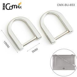 Factory Direct en alliage de zinc de gros de forme d anneau, Custom 16mm Anneau en métal de couleur argent antistatique pour les sacs à main