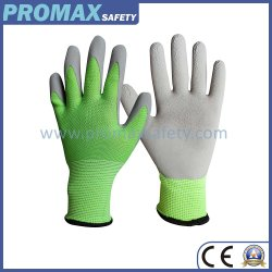 Groene Polyester met de Handschoenen van het Werk van de Tuin van de Jonge geitjes van de Deklaag van het Latex van het Schuim