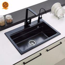 現代デザインアクリルの固体表面の水晶合成の流しの単一の台所の流し