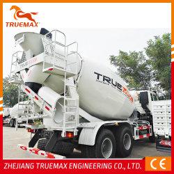 Truemax 콘크리트 기계 3-12cbm 특수 중부하 작업 HOWO 운송 트랙터 자가 적재 이동식 시멘트 콘크리트 믹서 트럭