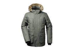 Corpo impermeável almofadada para homens Blusa com capuz quente casaco de Inverno