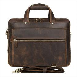 7388r multifuncional de maleta de couro genuíno Advogado Mens Saco para computador portátil