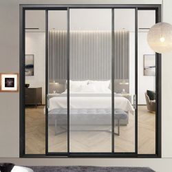 Las puertas de aluminio exterior residencial balcón de gran tamaño estándar de fábrica de aluminio de tamaño de la mayorista puerta corrediza de gran tamaño personalizado