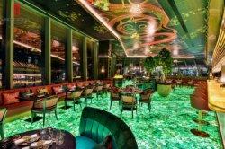호텔 레스토랑 내부 반투명 Agate Stone Green Agate Onyx for 벽 타일/세면대/바닥 타일/배경