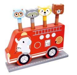 木車の形ポップアップ車のおもちゃ