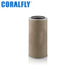 Filtro de aire del motor Diesel Coralfly 0010947904 Commins Merdeces Benz para filtrar