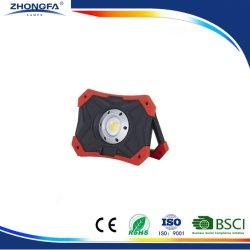 Projecteur à LED 15W pour phare de travail Portable Rechargeable LED, avec batterie au lithium Ce RoHS EMC