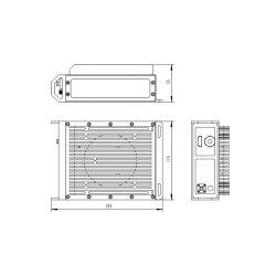 Uav ausgerüsteter HD SDI zerstreuter videoübermittler