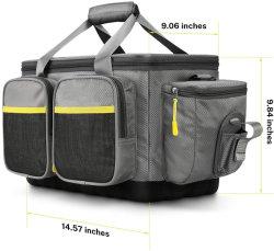 حقيبة صندوقي صيد السمك - مخزن كبير لصيد الأسماك حقيبة - مواد بوليستر مقاومة للماء 100% - حقائب صيد السمك - مناسب لـ 3600 3700 طبل
