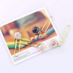 Creative um clipe de vidro cristal bola clipe marcador lado conta Caixa de decoração