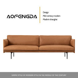 Sofà genuino moderno semplice del cuoio di combinazione della pelle bovina del primo piano dell'entrata del salone di Famiglia-Stile del sofà di cuoio minimalista di Italiano-Stile piccolo