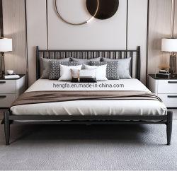 Отель декоративная металлическая мебель спальня полный размер железа