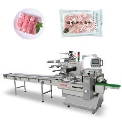 De servo Verzegelende Verpakkende Machine van de Stroom voor de Maaltijd van de Kip van het Varkensvlees van de Pallet