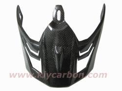 Proteção do capacete de moto de fibra de carbono