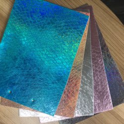 Shiny imitation du caisson de nettoyage de la sellerie cuir artificiel PU Glitter synthétique