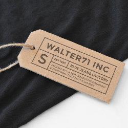 Stampa personalizzata di alta qualità UHF RFID Smart Clothing Label Hang Etichetta per abbigliamento