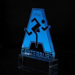 BSCI Fábrica profesional personalizado hacen de la moda de metal de alta calidad de aleación de zinc Polyresin premio Copa de Fútbol Soccer de cristal del Premio para el evento como regalo de recuerdo 028)