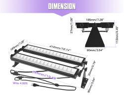 라이트 아웃도어 라이트 스테이지 LED 벽 와셔 IP65 방수 10ft 전원 코드 어업 아쿠아리움 경화 UV LED 블랙 라이트 진열대