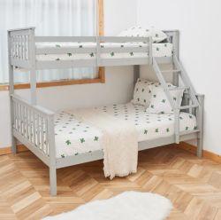 Multi-fonctions en bois massif Convertible Triple lit superposé pour 3 enfants