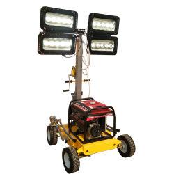 핸드 푸시 가솔린 제너레이터 하이 라이트 LED 휴대용 이동식 조명 타워