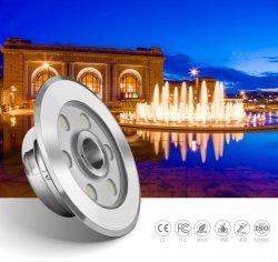 9W 24V IP68 impermeabilizzano gli indicatori luminosi di controllo LED di RGB DMX per le fontane