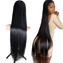 Kbeth cabelo humano Wig reto Lace completo barato 100% Virgin Remy Custom brasileira HD Lace frontal Kinky curly profundamente solto Wigs da China da onda para mulheres pretas por atacado