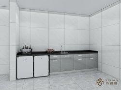 Moderno e modernos de alta qualidade de aço inoxidável Cozinha Porta de vidro de PVC laca