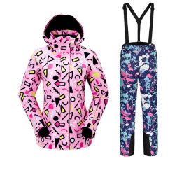 여성용 스포츠 따뜻한 통기성 내마모성 스키 재킷 스키 바지