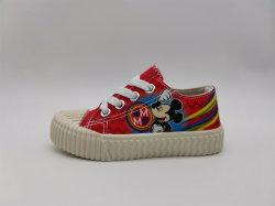 Zapatos de niños de la inyección de Mickey de zapatillas de moda para niños calzado superior de lona