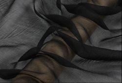 100 Tecidos de seda pura Crepon Têxteis anilha ondulada Georgette 4,5 m/m preto