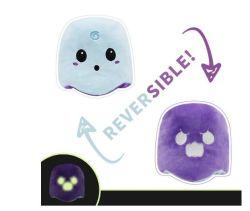 Flip reversible Ghost suave Muñeca de juguete de peluche Peluche Capítulo 5 colores llenos de muñeca de felpa felpa de niño juguetes para niños regalos Halloween