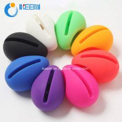 Huevo de la música móvil de silicona soporte altavoz/soporte para el iPhone4/5/6