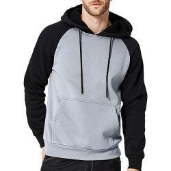Высокое качество Streetwear 3D-черный 100% хлопок Vintage флис плотной пустой большой Custom худи с кармана спереди
