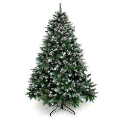 De kunstmatige Bijeengekomen Bomen van de Kerstboom Sneeuw met de Decoratie Unlit van de Denneappel