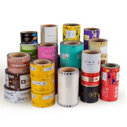 Impresa personalizada bolsa de comida bocadillo rollo de película seca de aluminio Envases de plástico rollos de película