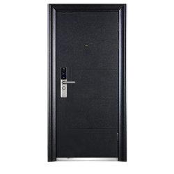 현대 까만 색깔 힘 코팅 표면 강철 안전 입구 문
