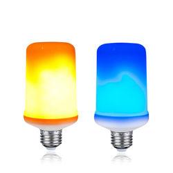 Usine de la vente de feu jaune bleu 2 modes de clignotement de la flamme ampoule LED