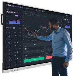 Touch screen bianco per lavagna elettronica mobile senza polvere montato a parete Scheda Smart Board