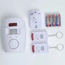 Sensor de movimiento de alarma con 2 controles remotos con CE