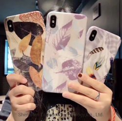 Глянцевая бумага для изготовителей оборудования нажмите считают пользовательские ячейки с цветочным рисунком/мобильного телефона чехол для iPhone X/Xsmax/Xr/Samsung S10/Примечание9 полной модели