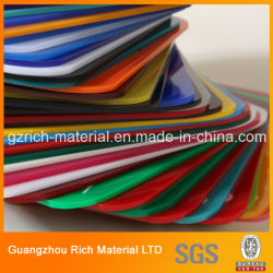 Folha de acrílico colorido Plexiglass PMMA plástico Folha de acrílico