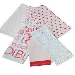 Comercio al por mayor Venta caliente mezcla de Algodón promocionales impresos Diseño personalizado de paño de cocina