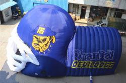 Tunnel gonflable pour casque de football pour les jeux sportifs scolaires