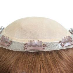Les cheveux des Indiens de la soie toupee de base pour les femmes avec des clips